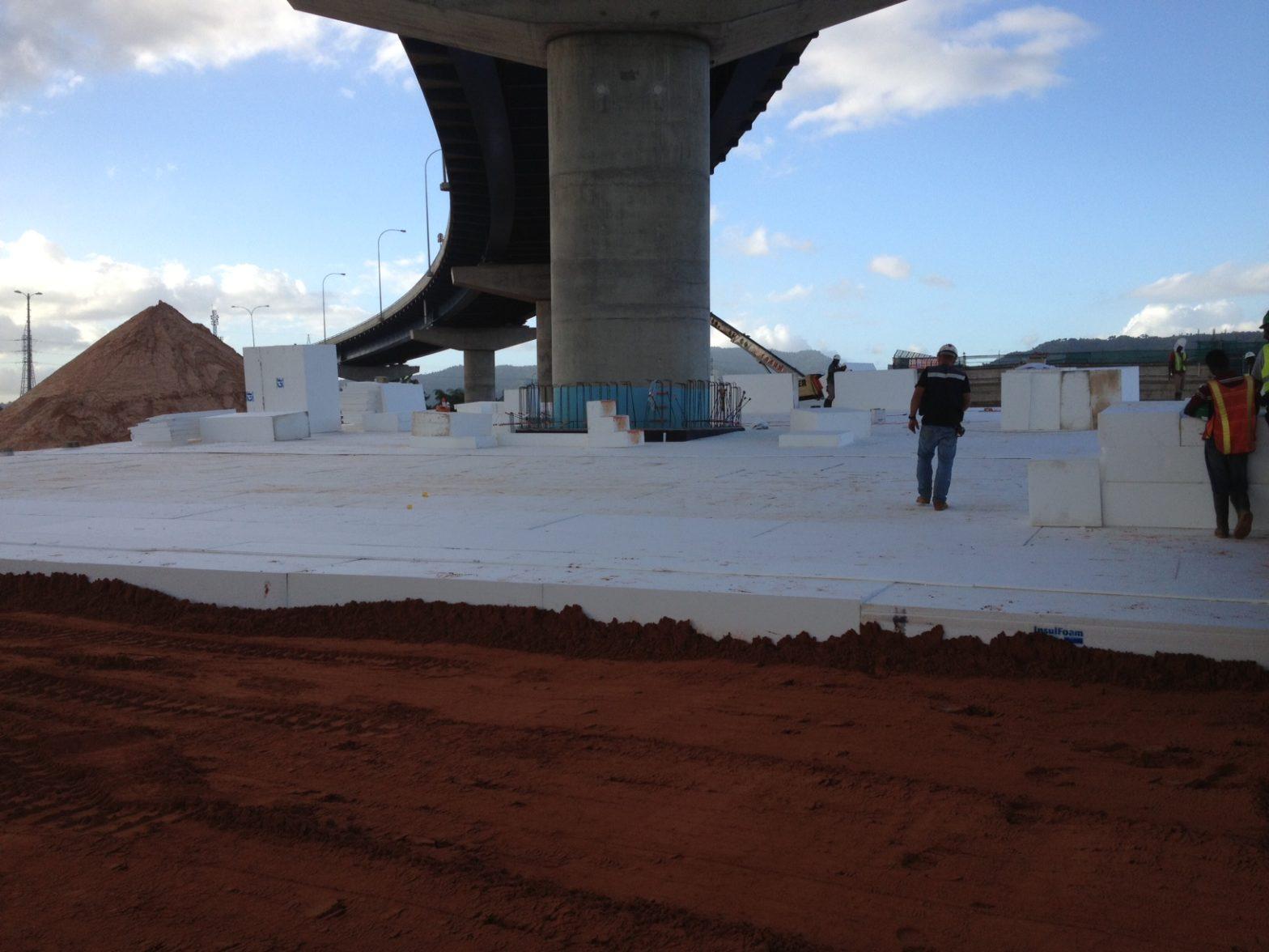 EPS Geofoam Being Used in Bridge Construction.
