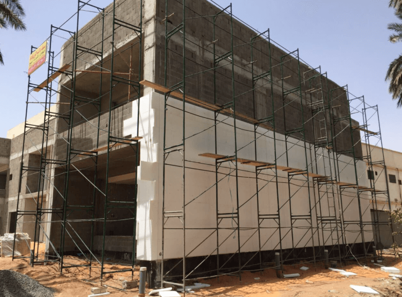 Construction Building with EPS Sheets.
